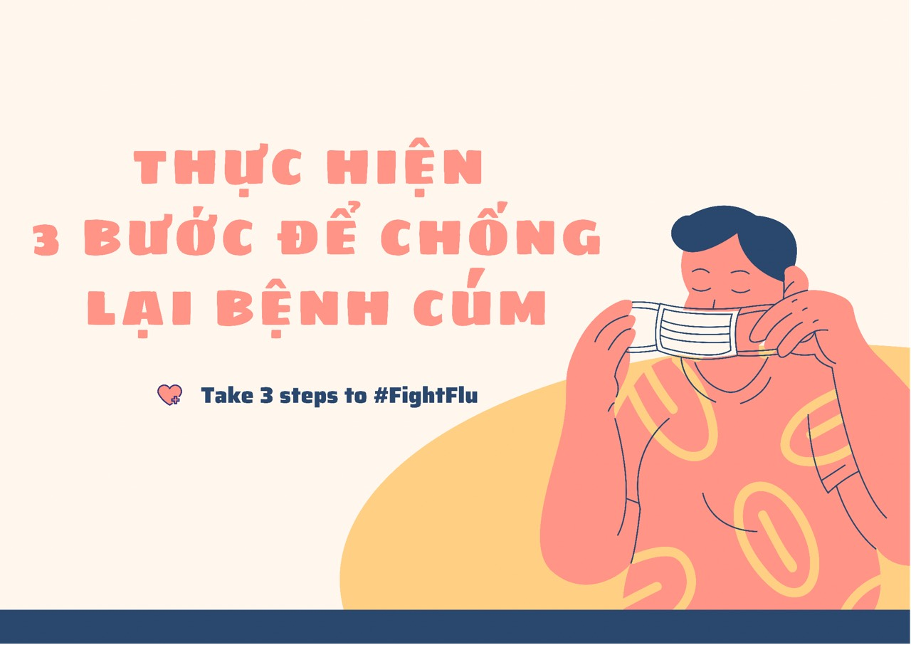 Thực hiện 3 bước để chống lại bệnh cúm